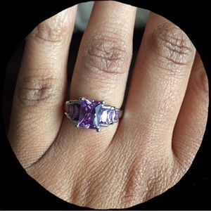 Pretty purple amethyst ring. Sizes 7&8 available